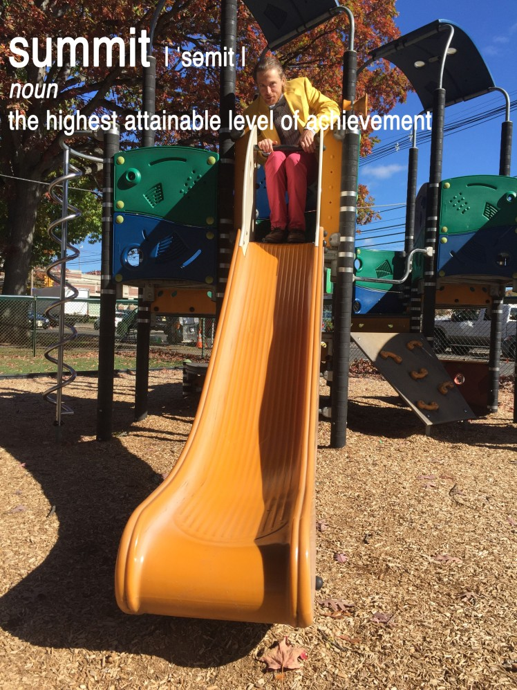 top of slide